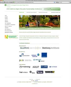 California Higher Education Sustainability Conference Website