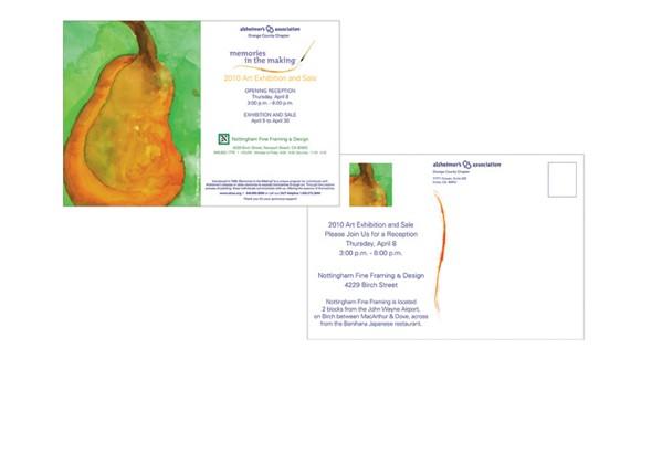 Alzheimer's Assoc. Art Exhibit postcard
