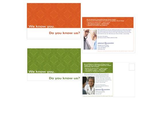 Alzheimer's Assoc. Direct Mail postcards