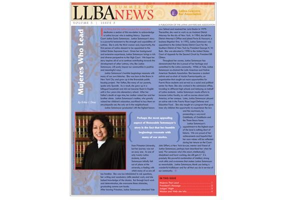 Latina Lawyers Bar Assoc. newsletter