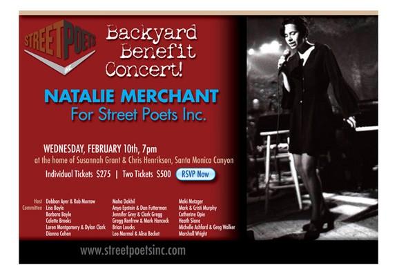 Street Poets eblast fundraiser