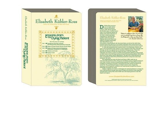 Elisabeth Kubler-Ross foundation packaging