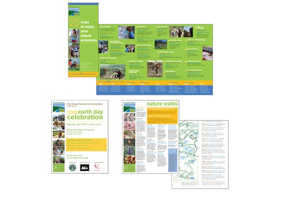 Palos Verdes Peninsula Land Conservancy Marketing Collateral