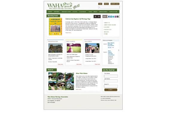 West Adams Heritage Association Website
