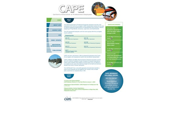 CAPE Union website