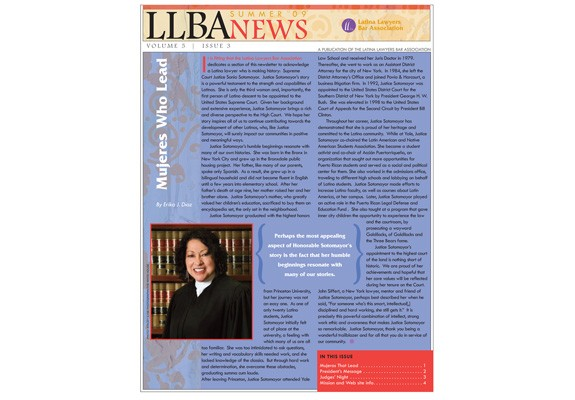 Latina Lawyers Bar Assoc. newsletter