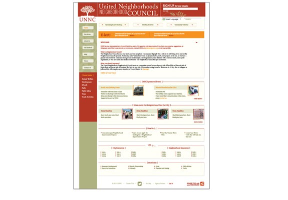United Neighborhoods Neighborhood Council Website