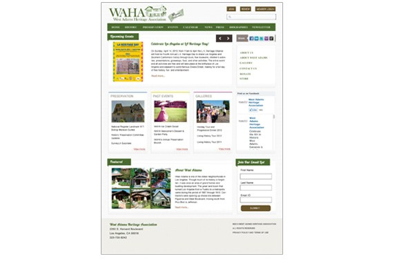 West Adams Heritage Association Website
