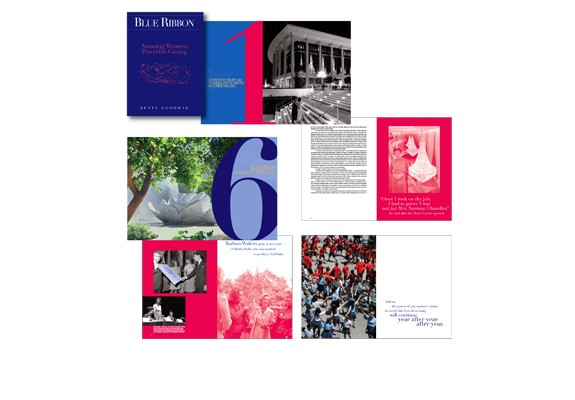 Blue Ribbon: Amazing Women Powerful Giving Book Design