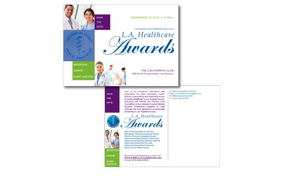 L.A. Healthcare Awards Save the Date Card