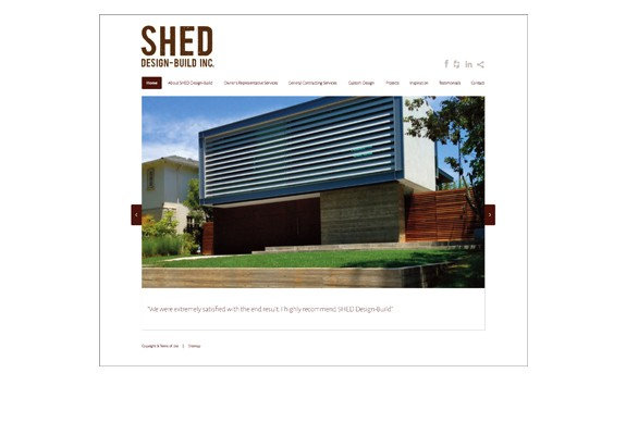 SHED Design-Build Website