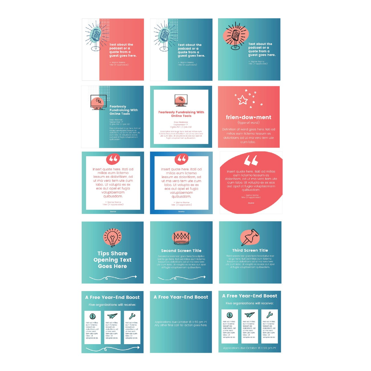 GDUSA Award-Winning Design of Social Media Templates for Good Ways, Inc.