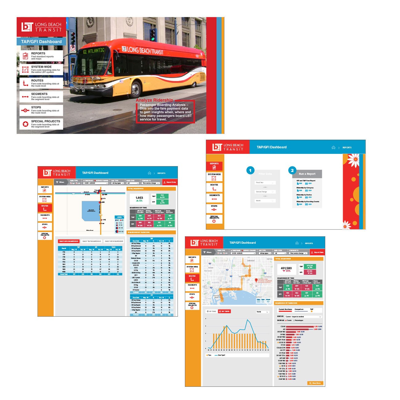 Long Beach Transit Dashboard Design GDUSA Winner