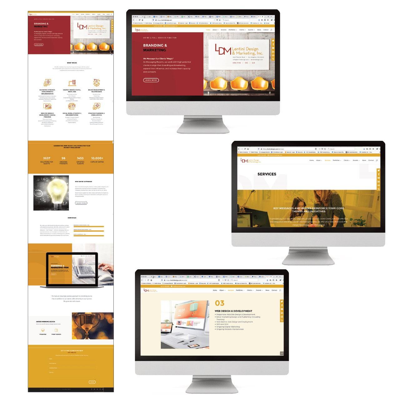 Lentini Design and Marketing Award-Winning Website