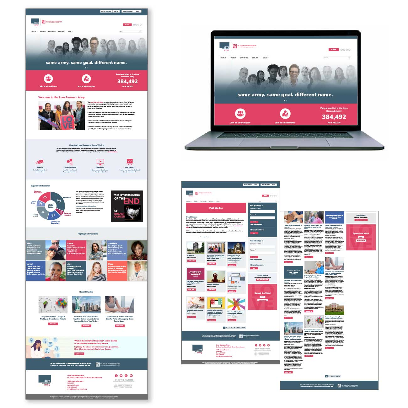 Love Research Army award-winning website design by Lentini Design and Marketing